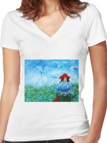 Being a Woman #3 Women's Fitted V-Neck T-Shirt