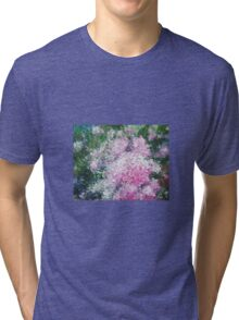Pink Hydrangeas Tri-blend T-Shirt
