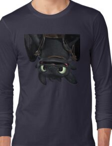 Upside Down Toothless Long Sleeve T-Shirt