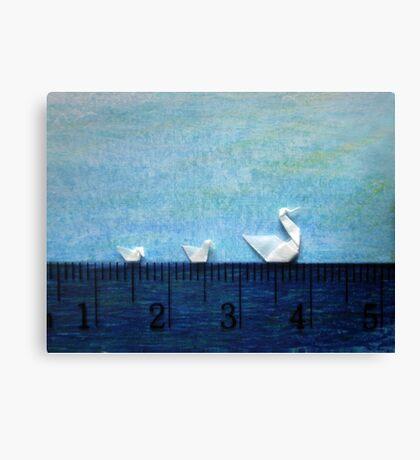 3cm Family Swim Canvas Print