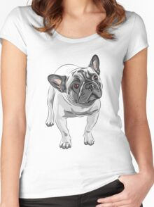 dog #4 Women's Fitted Scoop T-Shirt