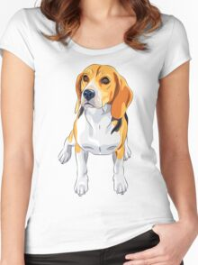 dog #5 Women's Fitted Scoop T-Shirt