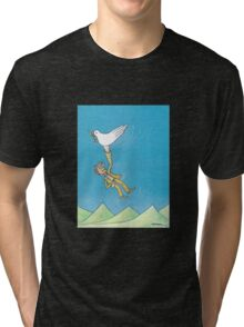 Pigeon and hand Tri-blend T-Shirt