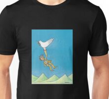 Pigeon and hand Unisex T-Shirt