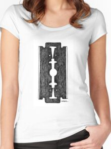 Razor blade Women's Fitted Scoop T-Shirt
