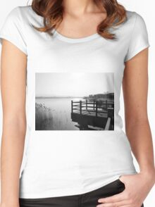 Keyng-po Lake Women's Fitted Scoop T-Shirt