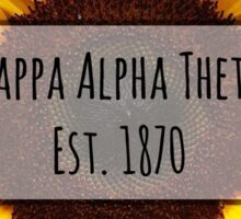 Kappa Alpha Theta Sunflower Sticker