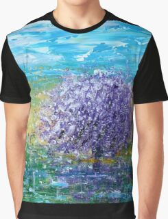 Purple Blossoms Graphic T-Shirt