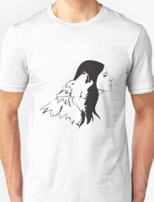 Girl With Wolf T-Shirt