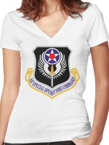 Air Force Special Operations Women's Fitted V-Neck T-Shirt