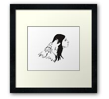 Girl With Wolf Framed Print