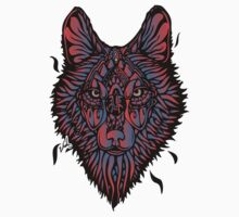 Clasic Wolf Color Paint Kids Tee