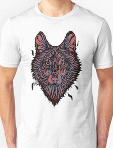 Clasic Wolf Color Paint T-Shirt