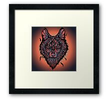 Clasic Wolf Color Paint Framed Print