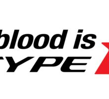 Honda Civic Integra my Blood is Type R Sticker