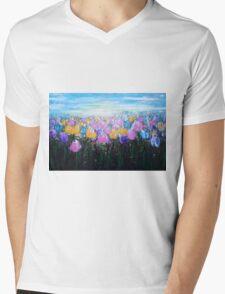Tulips at Sunrise Mens V-Neck T-Shirt