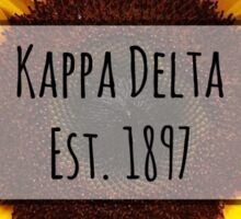 Kappa Delta Sunflower Sticker