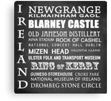 Ireland Famous Landmarks Canvas Print