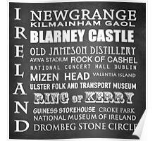 Ireland Famous Landmarks Poster