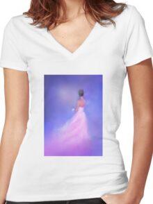 Eternal Light Women's Fitted V-Neck T-Shirt