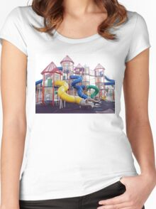 Kids Play Ground - Series 2 Women's Fitted Scoop T-Shirt