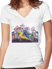 Kids Play Ground - Series 2 Women's Fitted V-Neck T-Shirt