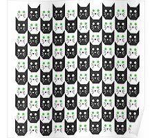 kitten pattern Poster
