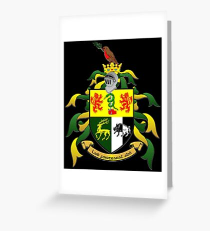 O'Sullivan crest of arms Greeting Card