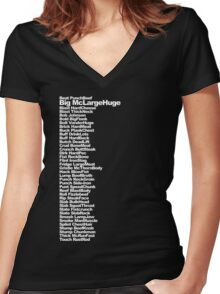 Big McLargeHuge Women's Fitted V-Neck T-Shirt