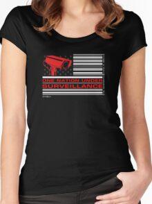 One Nation Under Surveillance Women's Fitted Scoop T-Shirt