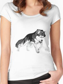 Wolf #2 Women's Fitted Scoop T-Shirt