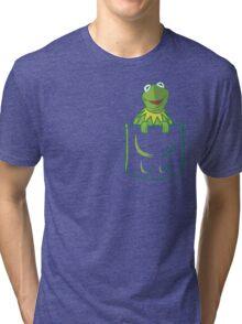 Kermit Pocket - muppet show Tri-blend T-Shirt