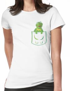 Kermit Pocket - muppet show Womens Fitted T-Shirt