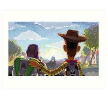 Toy Story - Buzz and Woody Art Print