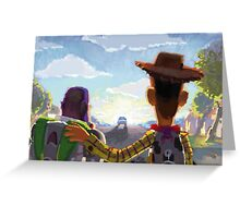 Toy Story - Buzz and Woody Greeting Card