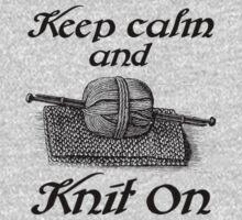 Keep Calm And Knit On Kids Tee