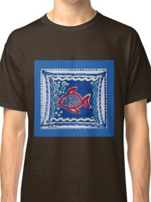 FUNNY RED BUBBLE-FISH IN THE BLUE - Magic-Pen-Design Classic T-Shirt
