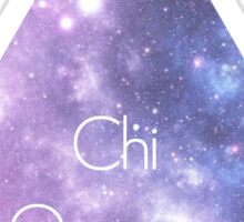 Chi Omega Galaxy Sticker
