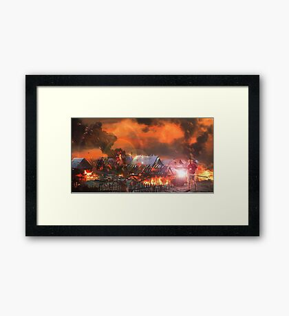 The Corrupt Wizard  Framed Print