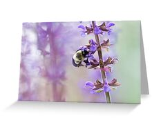 Purple and Bumble Greeting Card