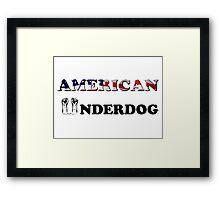 American Underdog - Silenced Framed Print