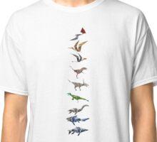 Polygonal Dinosaur pattern Classic T-Shirt