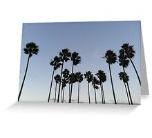 Palm Trees Over San Diego California Greeting Card