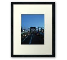 Brooklyn Bridge, New York, New York Framed Print