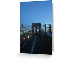 Brooklyn Bridge, New York, New York Greeting Card