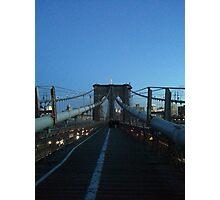 Brooklyn Bridge, New York, New York Photographic Print