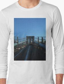 Brooklyn Bridge, New York, New York Long Sleeve T-Shirt