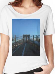 Brooklyn Bridge, New York, New York Women's Relaxed Fit T-Shirt