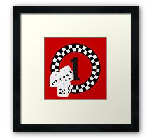 Bunco Dices - Table No One VRS2 Framed Print