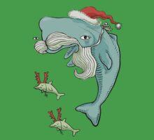Christmas Whale Baby Tee